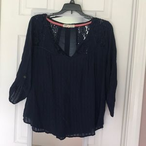 Jolt Navy Blue Blouse Juniors Large